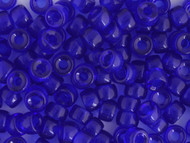 Crow Bead -  Glass Transparent Dark Blue 9mm