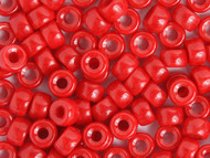 Crow Bead Glass Opaque Red 9mm - bag (19599)