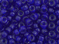 Crow Bead -  Glass Transparent Cobalt Blue 9mm