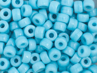 Crow Bead -  Glass Opaque Light Blue 9mm