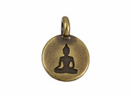 TierraCast Antique Brass Buddha Charm each