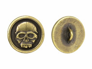 TierraCast Antique Brass Scary Skull Button each