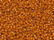 Miyuki Delica Seed Bead size 11/0 Pumpkin Orange Opaque Dyed Duracoat  DB 2108