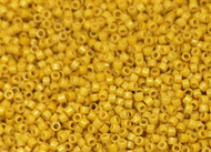 Miyuki Delica Seed Bead size 11/0 Light Topaz Opaque Dyed Duracoat  DB 2102