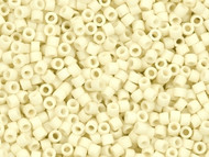 Miyuki Delica Seed Bead size 10/0 Cream Opaque Matte Glazed Luster DB 0352