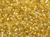 Miyuki Delica Seed Bead size 10/0 Gold Silver Lined DB 0042