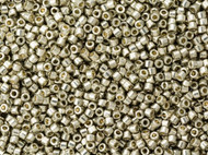 Miyuki Delica Seed Bead size 11/0 Light Pewter Galvanized Duracoat DB 1851