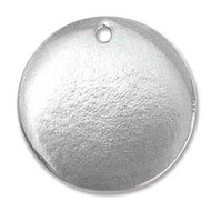 "ImpressArt Stamping Blank Pewter Circle with Hole 15/16"" - 4 pack (59422)"