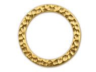 TierraCast Bright Gold Large Hammered Ring Link each