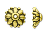 TierraCast Antique Gold Dharma Bead Cap - Each (20354)