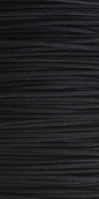 Waxed Cotton Cord 0.5mm Black - 50m Roll