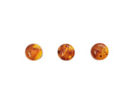 Amber Cabochon 10mm Round - each