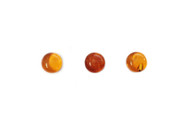 Amber Cabochon 7 to 8mm Round - each