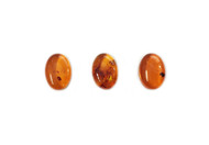 Amber Cabochon 14x10mm Oval - each