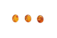 Amber Cabochon 12x10mm Oval - each