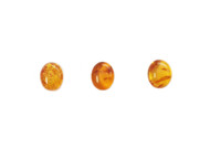 Amber Cabochon 8x10mm Oval - each