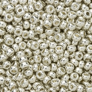 Miyuki Round Seed Bead Size 6/0 Silver Galvanized Duracoat SB 4201 (59961)