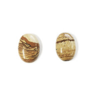 Picture Jasper Cabochon 25x18mm Oval - each