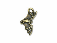 TierraCast Antique Brass Bat Charm each