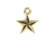 TierraCast Antique Gold Nautical Star Charm each