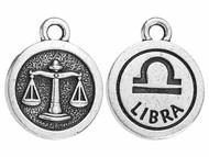 TierraCast Antique Silver Libra Charm each