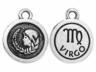TierraCast Antique Silver Virgo Charm each