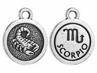 TierraCast Antique Silver Scorpio Charm each