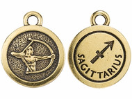 TierraCast Antique Gold Sagittarius Charm each