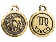 TierraCast Antique Gold Virgo Charm each