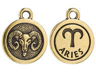 TierraCast Antique Gold Aries Charm each