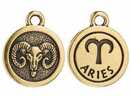 TierraCast Antique Gold Aries Charm each
