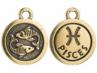 TierraCast Antique Gold Pisces Charm each