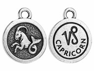 TierraCast Antique Silver Capricorn Charm each