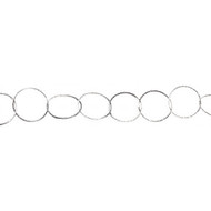 Sterling Silver Chain Diamond Cut Round Cable16mm - per foot