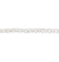 Sterling Silver Chain Diamond Cut Round Cable 5mm - per foot (42175)