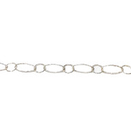 Sterling Silver Chain with Long & Short Links 4.8x12.5mm - by the 50' roll