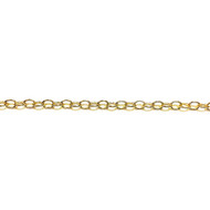 Gold-Filled Oval Cable Chain 5.3x4mm - by the 50' roll