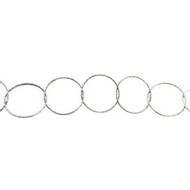 Sterling Silver Diamond-Cut Circular Chain - per foot