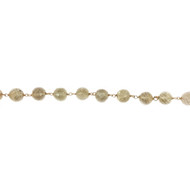 Vermeil Beaded Facetted Lemon Quartz Chain 7mm - per foot