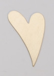 Metal Blank  Heart  Brass 25x16mm 24ga 1 pc