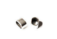 Silver Zamak Oval Slider 13x9mm (inner 10x7mm for licorice leather) - each