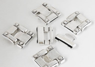 Silver Colour Clasp 38x34mm (Inner 29x2.5mm) - Each