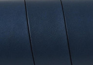 European Flat Leather Navy Blue 20x1.5mm - per inch