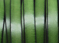 Leather Flat Cord 20x1.5mm Green European made - per inch