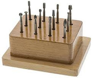 Eurotool Wax Bur Set Medium 12 pieces in Wood Stand BUR-935.05 - each
