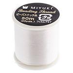 Miyuki Nylon Bead Thread Size B White 50M