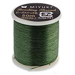 Miyuki Nylon Bead Thread Size B Green 50M