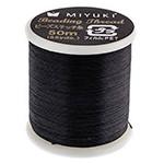 Miyuki Nylon Bead Thread Size B Black 50M