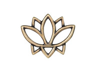 TierraCast Antique Brass Open Lotus Link each
