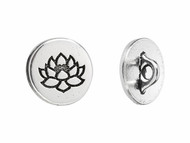 TierraCast Antique Silver Lotus Button - Each (62134)